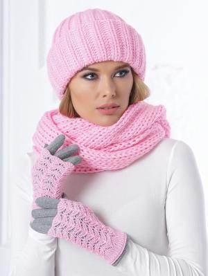 Снуд Siberika. Цвет: бледно-розовый, розовый