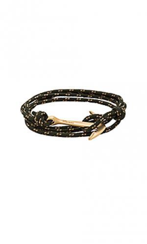 Веревочный браслет с медным якорем Miansai. Цвет: военный стиль