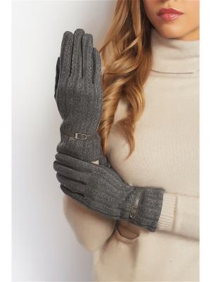 Перчатки Abby. Цвет: темно-серый