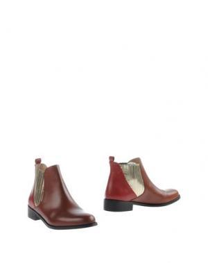 Полусапоги и высокие ботинки MYSUELLY. Цвет: коричневый
