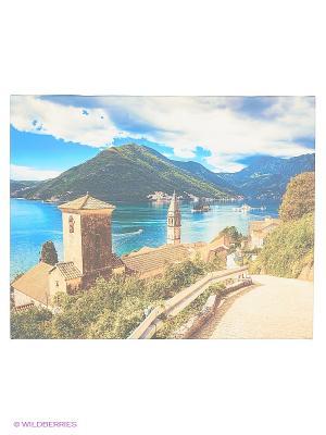 Art Холст Старая крепость DECORETTO. Цвет: бежевый, синий, зеленый