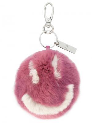 Fur keyring Steffen Schraut. Цвет: розовый и фиолетовый