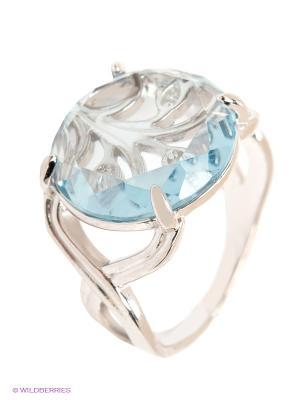 Кольцо ЭСТЕТ. Цвет: серебристый, светло-голубой