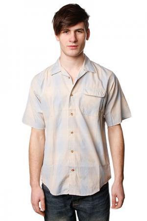Рубашка  Cambride Collared Cream/Light Blue Independent. Цвет: бежевый,голубой