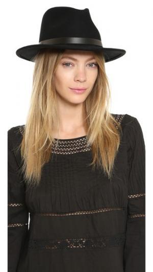 Шляпа-федора Messer Brixton. Цвет: черный/черный