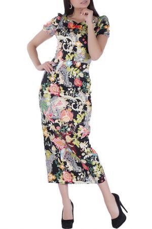 Удлиненное повседневное платье Sonett. Цвет: черно-красный