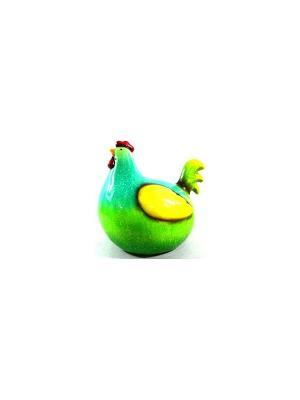 Садовая фигура - Курочка Marquis. Цвет: желтый, зеленый