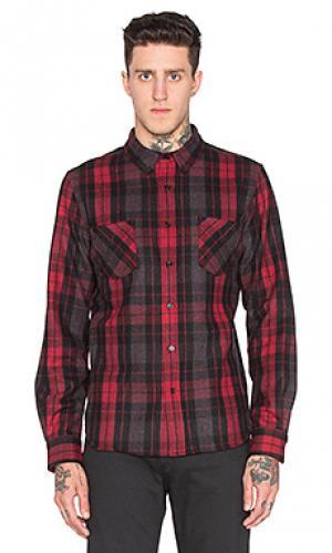 Рубашка с длинными рукавами ocelot Black Scale. Цвет: красный