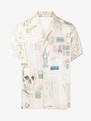 Рубашка с короткими рукавами Alexander McQueen. Цвет: телесный