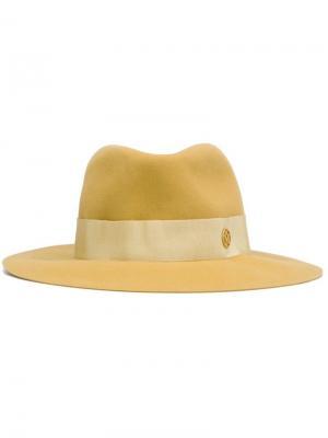 Шляпа Henrietta Maison Michel. Цвет: жёлтый и оранжевый