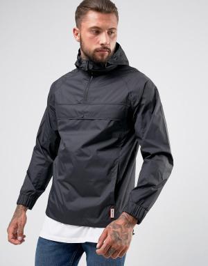 Hunter Черная легкая куртка на молнии. Цвет: черный