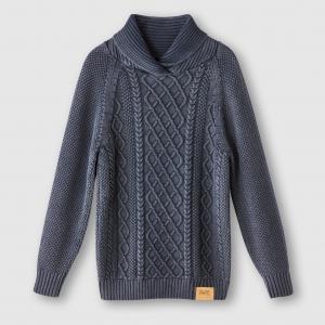 Пуловер с высоким воротником, 100% хлопка PETROL INDUSTRIES. Цвет: синий,черный