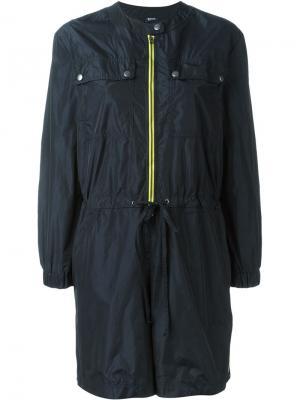 Мини-платье с контрастной молнией Jil Sander Navy. Цвет: синий