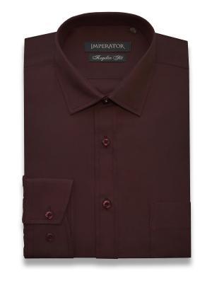 Рубашка Imperator. Цвет: темно-бордовый
