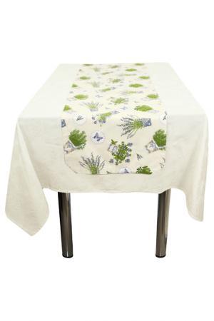 Дорожка на стол FRESCA DESIGN. Цвет: молочный, лавандовый