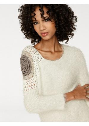 Пуловер Linea Tesini. Цвет: экрю