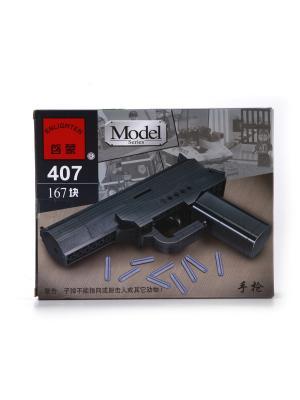 Конструктор пластиковый Пистолет с пульками ENLIGHTEN. Цвет: черный