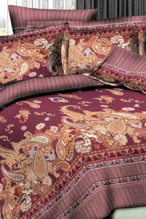 Постельное белье 2,0 сп. 70х70 Patrizia. Цвет: бордовый, коричневый