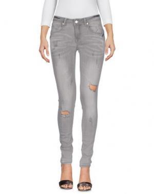 Джинсовые брюки HOPE COLLECTION. Цвет: серый
