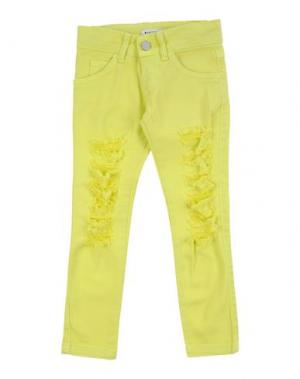 Джинсовые брюки VICTORIA & STELLA. Цвет: желтый