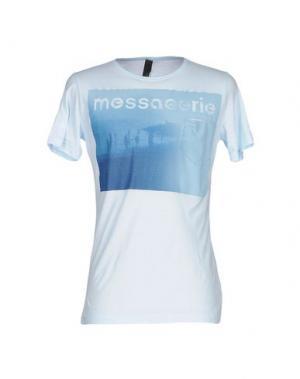 Футболка MESSAGERIE. Цвет: небесно-голубой