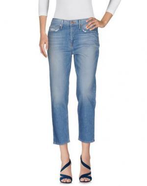 Джинсовые брюки-капри GENETIC DENIM. Цвет: синий