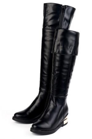 Ботфорты Brocoli. Цвет: черный