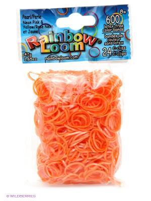 Резиночки Неон RAINBOWLOOM. Цвет: оранжевый