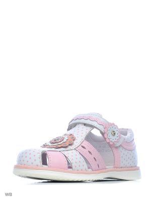 Туфли Kapika. Цвет: белый, розовый