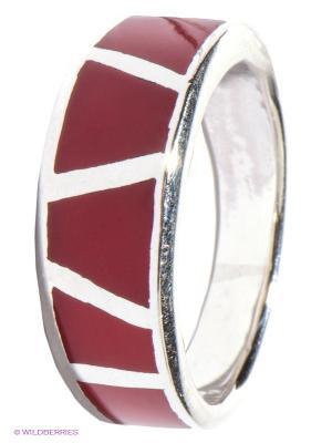 Кольцо Infiniti. Цвет: бордовый, серебристый