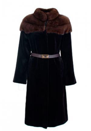 Меховое пальто норка BELLINI. Цвет: коричневый