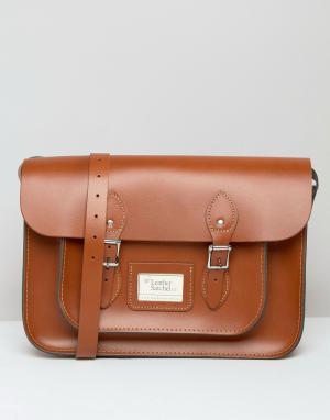 Leather Satchel Company Сумка сатчел. Цвет: рыжий