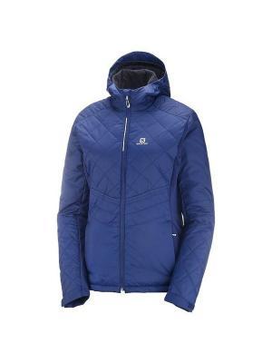 Куртка NOVA HOODIE W Medieval Blue SALOMON. Цвет: синий