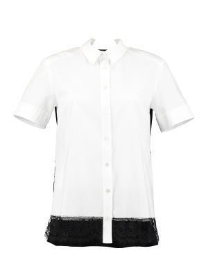 Рубашка KI6 Who are you. Цвет: черный, белый