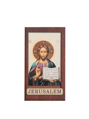 Магнит с ликом Иисуса Христа Holy Land Collections. Цвет: бежевый