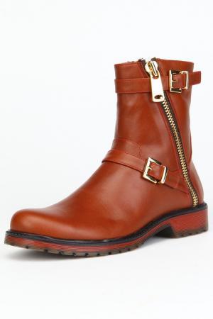 Ботинки утепленные, байка OSSO. Цвет: мультицвет