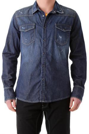 Рубашка BRAY STEVE ALAN. Цвет: синий
