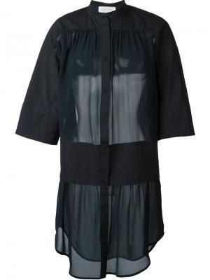Прозрачное платье Dopa Christian Wijnants. Цвет: синий