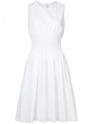 Приталенное расклешенное платье Rosetta Getty. Цвет: белый
