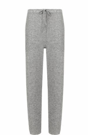 Кашемировые брюки прямого кроя The Row. Цвет: серый