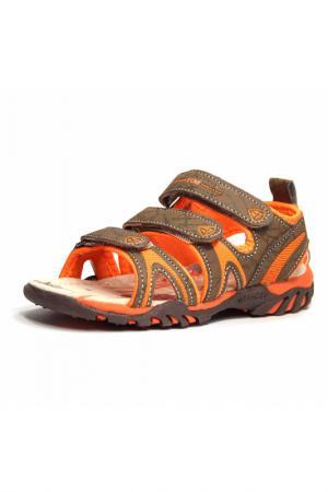 Туфли летние Marko. Цвет: коричневый, оранжевый
