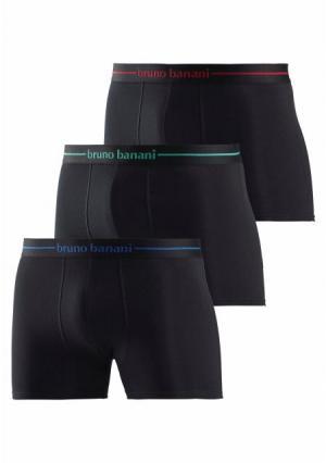 Боксерские трусы Power Cotton, 3 штуки BRUNO BANANI. Цвет: 3x черный, 3х серый меланжевый