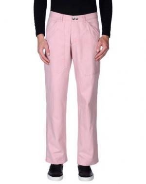 Джинсовые брюки DANIELE ALESSANDRINI. Цвет: розовый