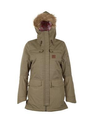 Куртка  AMITY GUM PARKA Rip Curl. Цвет: оливковый, серо-зеленый, серый