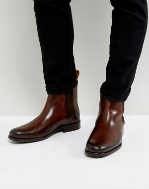 Zign Кожаные ботинки челси. Цвет: коричневый