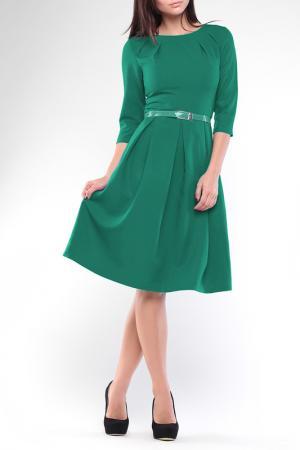 Платье Dioni. Цвет: изумрудный
