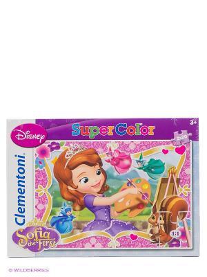 Disney.Пазл.Набор 2х20эл. Как стать принцессой Clementoni. Цвет: фиолетовый, белый, розовый