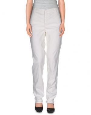 Повседневные брюки E-GÓ. Цвет: белый