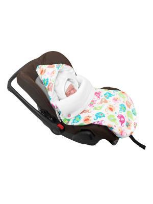 Конверт для новорождённого в автокресло Хортон (зима) MIKKIMAMA. Цвет: белый, салатовый, голубой, розовый