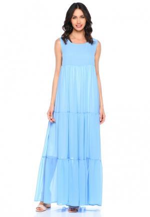 Платье Lucky Move. Цвет: голубой